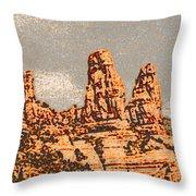 Hills In Sedona Throw Pillow