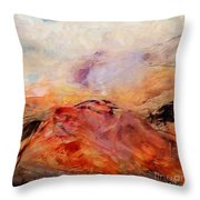 Hills In The Autumn Throw Pillow