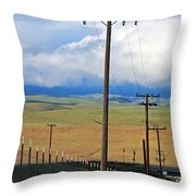Hills Of Chatter Throw Pillow