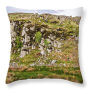 Hills Of Hadrians Wall England Throw Pillow