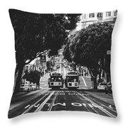 Hills Of San Francisco Throw Pillow
