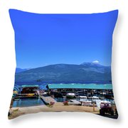 Hill's Resort On Priest Lake Throw Pillow