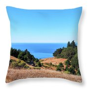 Hills To The Sea Throw Pillow