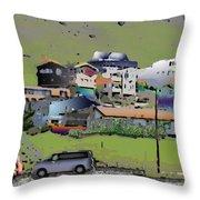 Hillside City Throw Pillow