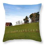 Hillside Farming Throw Pillow