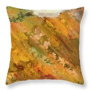 Hillside Flowers I Throw Pillow