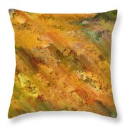 Hillside Flowers II Throw Pillow