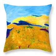 Hillside Impression Throw Pillow