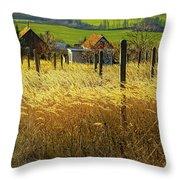 Hillside In Fall Jalaksova, Slovakia Throw Pillow