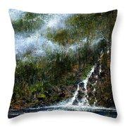 Hillside Run-off Throw Pillow