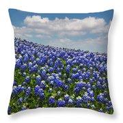 Hillside Texas Bluebonnets Throw Pillow