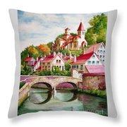 Hillside Village Throw Pillow
