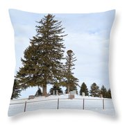 Hilltop Cemetery Throw Pillow