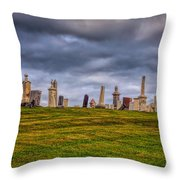 Hilltop Graveyard Throw Pillow