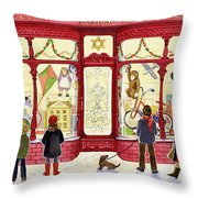 Hilltop Toys And Games Throw Pillow by Lavinia Hamer