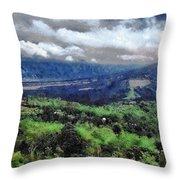 Hilly Terrain Throw Pillow