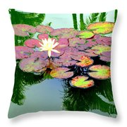 Hilo Water Lily 5 Throw Pillow