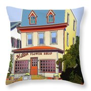 Hilton Flower Shop Throw Pillow