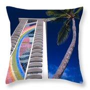 Hilton Hawaiian Village Throw Pillow