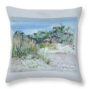 Hilton Head Beach Fauna Throw Pillow