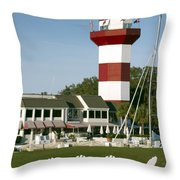 Hilton Head Island Lighthouse Throw Pillow