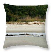 Hilton Head Island Shoreline Throw Pillow