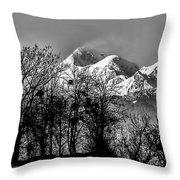 Himalaya ...the Trishul Peak Throw Pillow