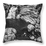Himalayan Bath Bw Throw Pillow