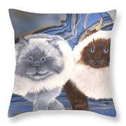 Himalayan Cats  Throw Pillow