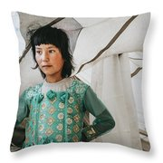 Himalayan Girl Throw Pillow