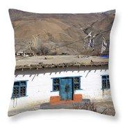 Himalayan Homestead, Muktinath, Nepal Throw Pillow