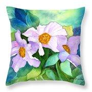 Himalayan Poppies Throw Pillow