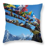 Himalayas In Nepal Throw Pillow