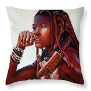 Himba Throw Pillow