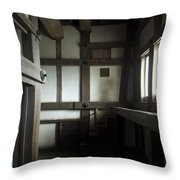Himeji Medieval Castle Interior - Japan Throw Pillow