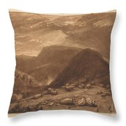 Hind Head Hill Throw Pillow