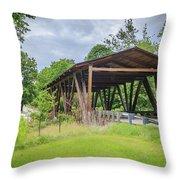 Hindman Memorial Covered Bridge Throw Pillow