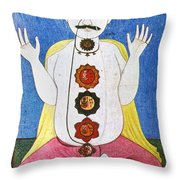 Hindu Chakras Wheels Throw Pillow