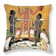 Hindu Goddess: Kali Throw Pillow