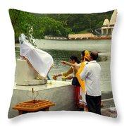 Hindu Offering Throw Pillow