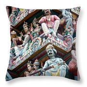 Hindu Temple Little India Singapore Throw Pillow