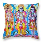 Hindu Trinity Brahma Vishnu Shiva Throw Pillow