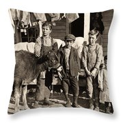 Hine: Child Labor, 1908 Throw Pillow