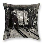 Hine: Coal Miners, 1911 Throw Pillow