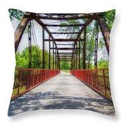 Hinkson Creek Bridge Throw Pillow