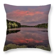 Hinson Lake Clouds Throw Pillow