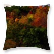 Hint Of Fall Color Painting Throw Pillow