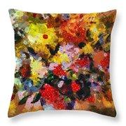 Hint Of Klimt Throw Pillow