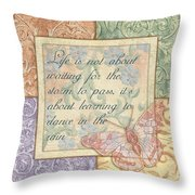 Hint Of Spring Butterfly 2 Throw Pillow