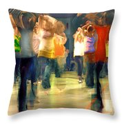 Hip Hop Dance Night Throw Pillow